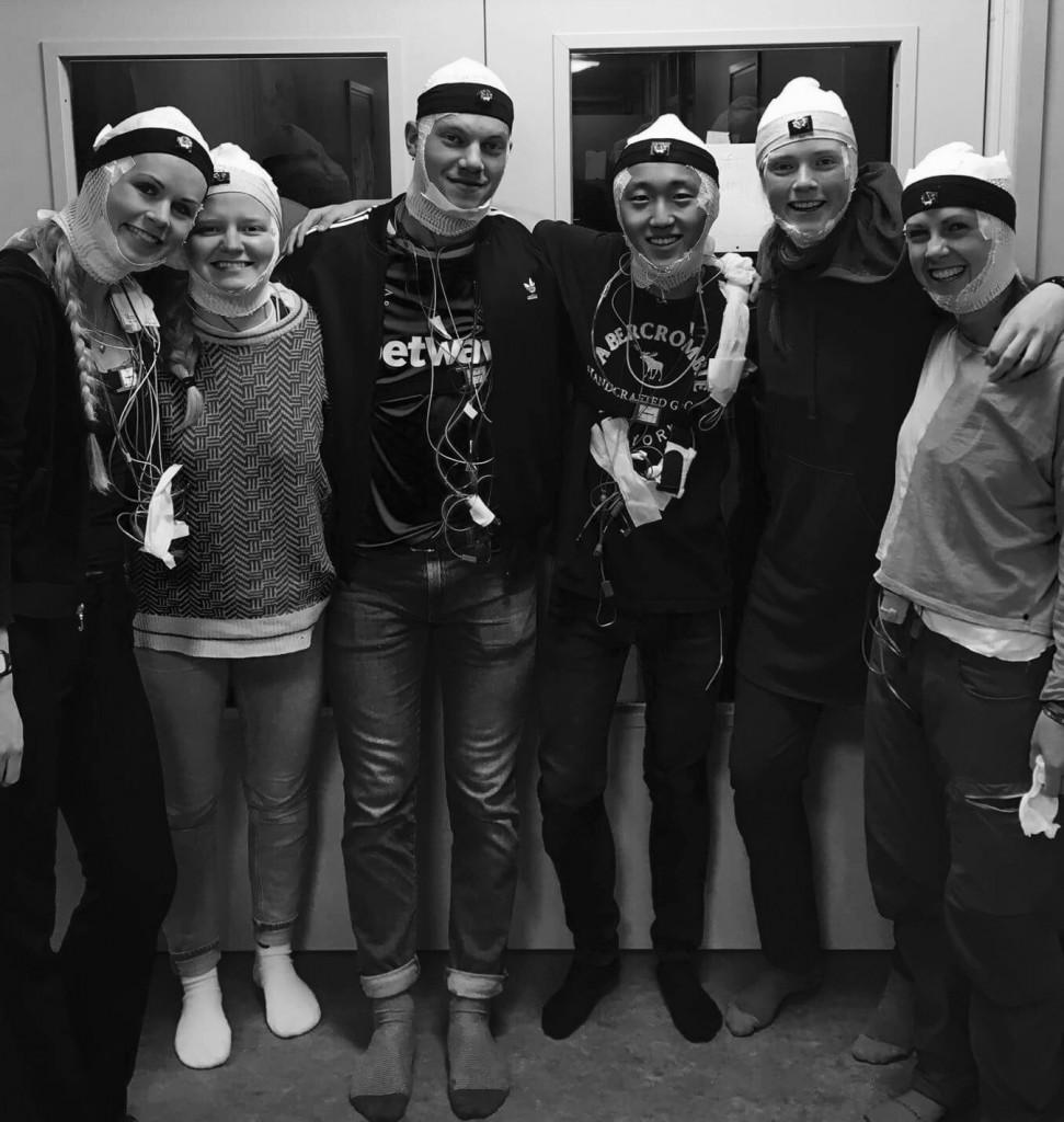 Fra venstre: Ane Nagelhus, Agnes Blom Nysæter, Andreas Halaas Michaelsen, Henrik Seong, Astrid Kristoffersen Berli, Mai Sharoni. Foto: privat